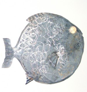 fish sculpture, car art fish sculpture, found art fish sculpture