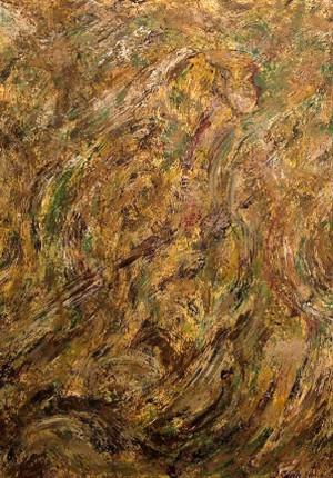 faces, acrylic abstract art, faces hidden in painting, brown and black acrylic painting