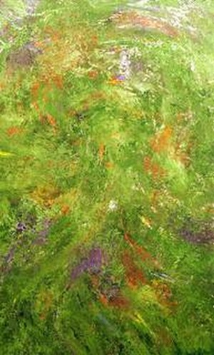 abstract painting, green acrylic abstract, abstract art painting