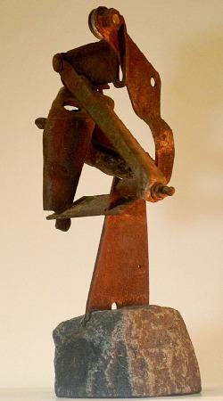 Junk Steel Sculpture by Jonathan Steele
