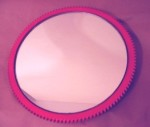 Red Car Part Art Mirror made from a ring gear