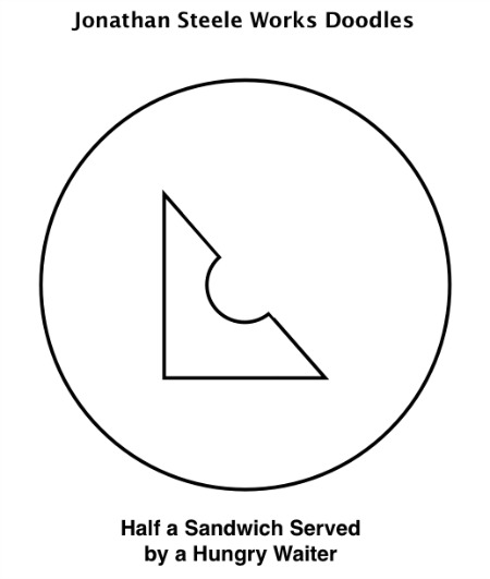 Half eaten sandwich served by hungry waiter from JonathanSteeleWorks.com